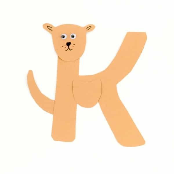 This simple K is for kangaroo letter craft is a fun alphabet craft for kids. Transform the letter K into a mama kangaroo! Perfect for preschool or kinder.