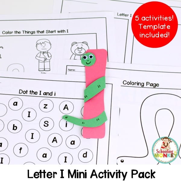 Make learning letters fun with this letter I activity pack! Kids will love these hands-on activities and teachers will love how easy it is to print and go! Designed to use with the I is for inchworm letter craft.