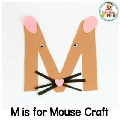 M is for Mouse Letter Craft