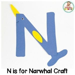 N is for Narwhal Letter Craft