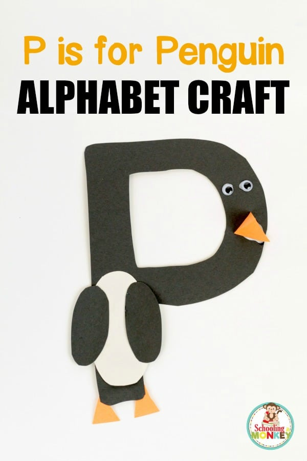 P Is For Penguin Craft on p is for penguin letter of the week crafts