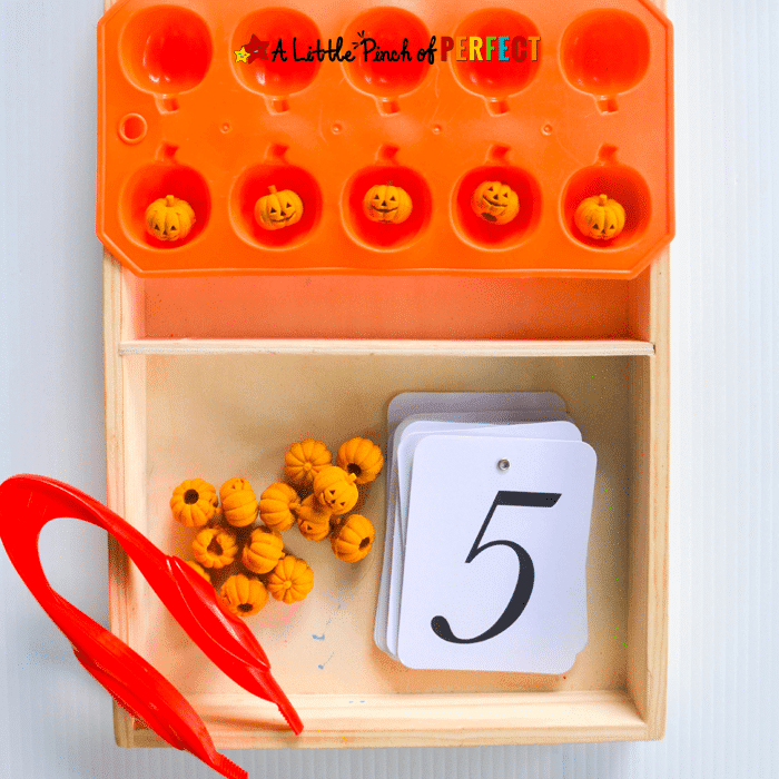 Little ones will love to celebrate Halloween with these Halloween fine motor activities that are delightful, not frightful. Perfect for preschool!