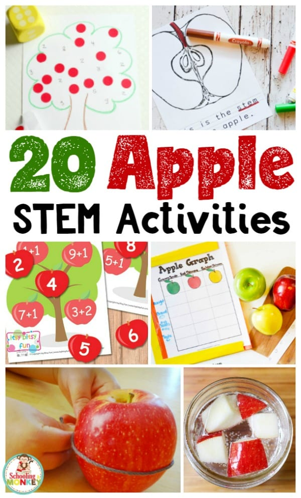 Looking for creative STEM activities? These apple STEM activities teach STEM skills while celebrating apples! Perfect for kindergarten STEM activities. #appleactivities #kidsactivities #thematicunit #stemactivities