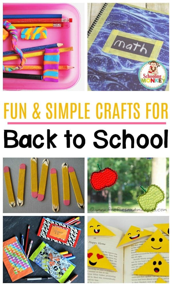 Delight kids of all ages with these fun back to school crafts! These classroom-friendly crafts are the perfect crafts for kindergarten and elementary kids.