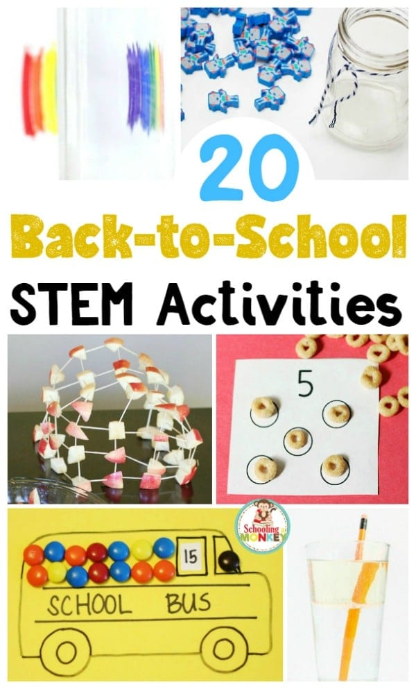 Go back to school in style and try these fun back to school STEM activities to get kids interested in learning again! Teach science with fun!