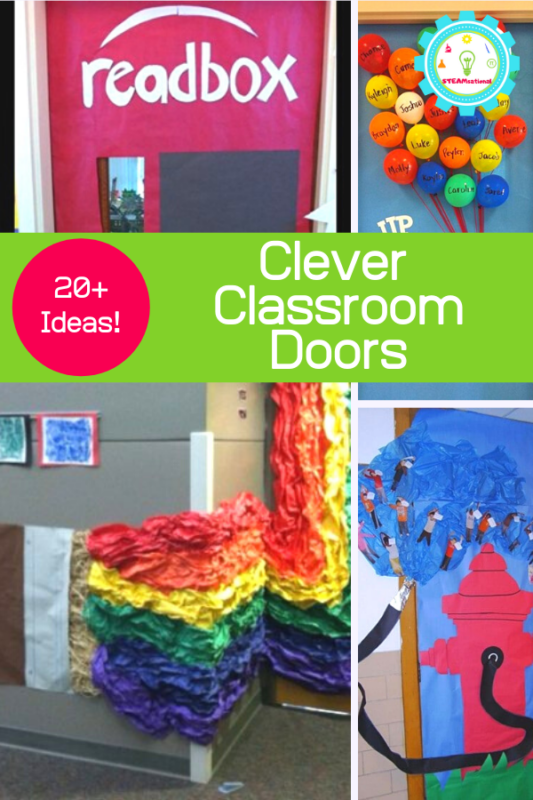 Love decorating your classroom for the upcoming year? You'll love these clever and cute classroom door ideas and classroom door decorations!