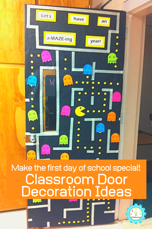 Make the first day back to school a blast with these creative classroom door decoration ideas! You'll be the star teacher with these classroom hallway decorations! #classroomdecor #teaching #backtoschool #iteachtoo