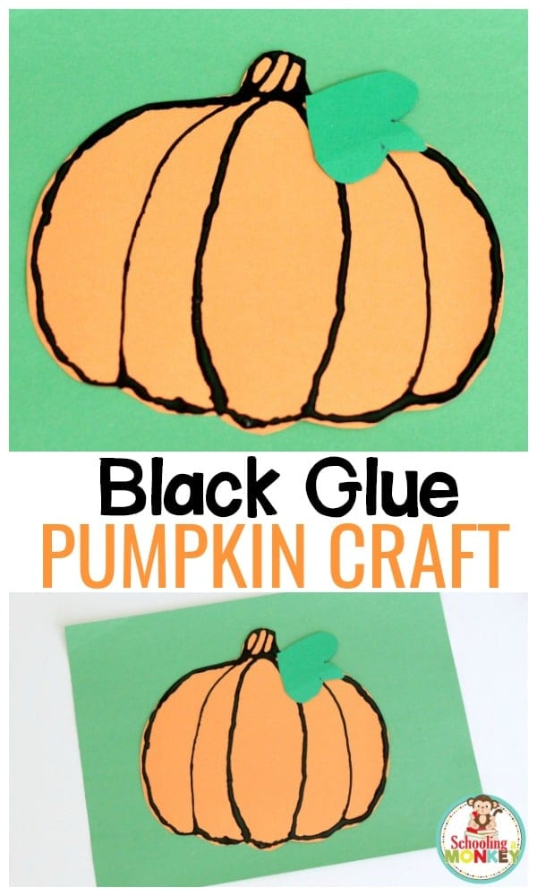 Bring some of the feeling of autumn into the classroom with this fun black glue pumpkin craft. Kids will love this easy fall craft!
