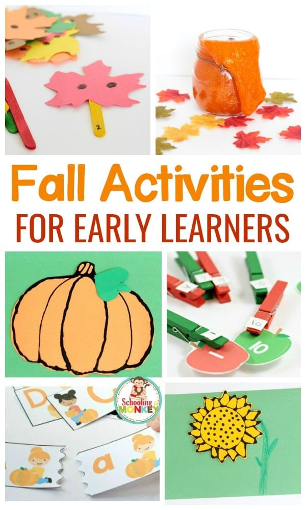 Make learning fun this fall with these hands-on, educational fall activities for early learners. Kids will love these autumn activities!