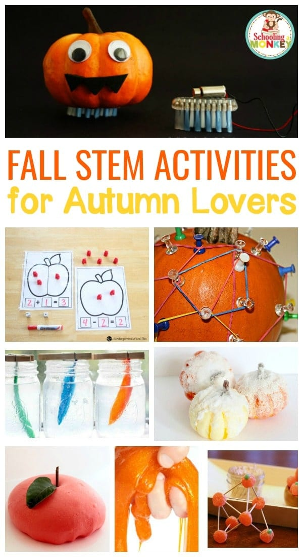 Make STEM fun with these fall STEM activities for early elementary. Kids will love these creative science, technology, engineering, and math projects!