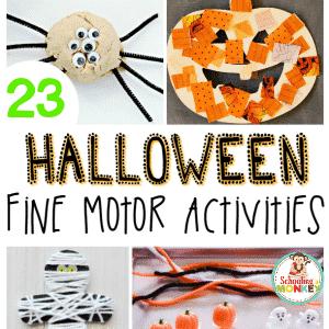 23 Halloween Fine Motor Activities that Will Delight Your Kids