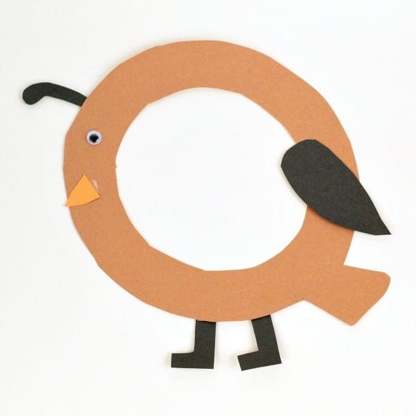 Learning the letter Q is a lot more fun with this Q is for quail letter craft! Kids will love this hands on alphabet craft in preschool and kindergarten.