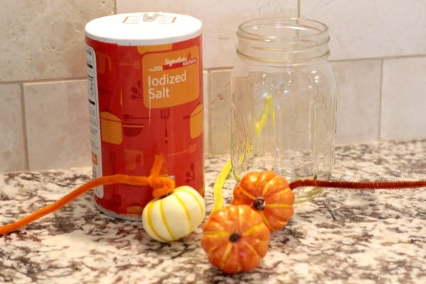 This fall, try this fun fall STEM activity and make salt crystal pumpkins! Kids will love this crystal science experiment.
