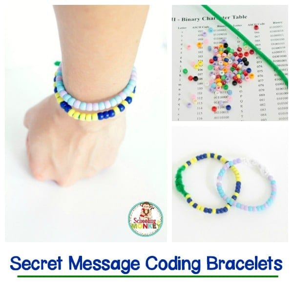 Secret Message Binary Coding Bracelets
