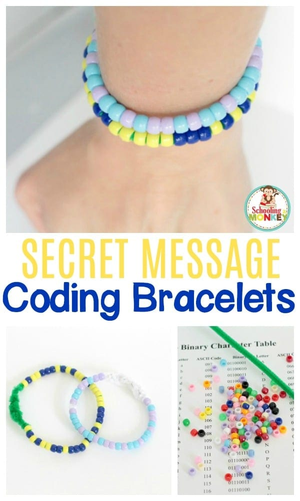 Make secret message coding bracelets using binary! Learn about the binary number system and keep your secrets at the same time.