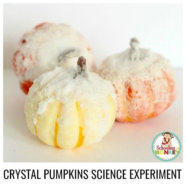 How to Make Sparkly Salt Crystal Pumpkins for Kids