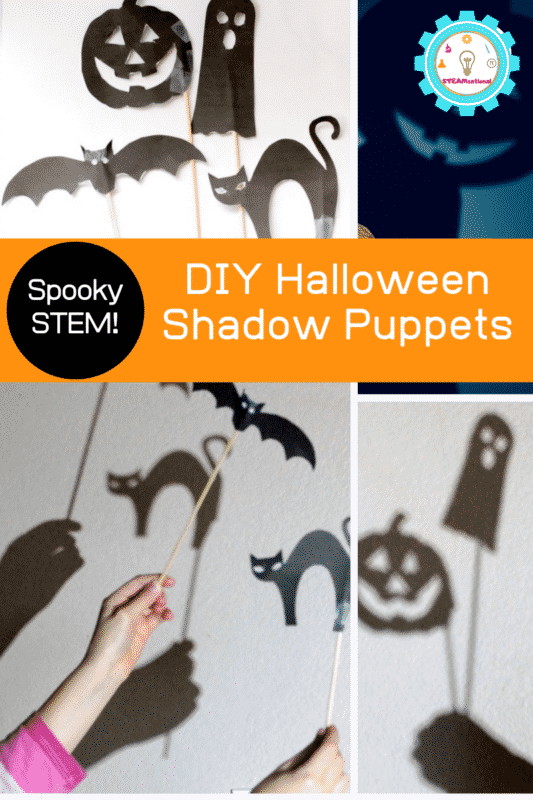 DIY Halloween Shadow Puppets