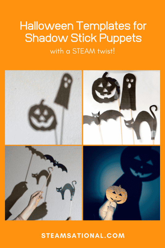 Halloween Templates for Shadow Stick Puppets