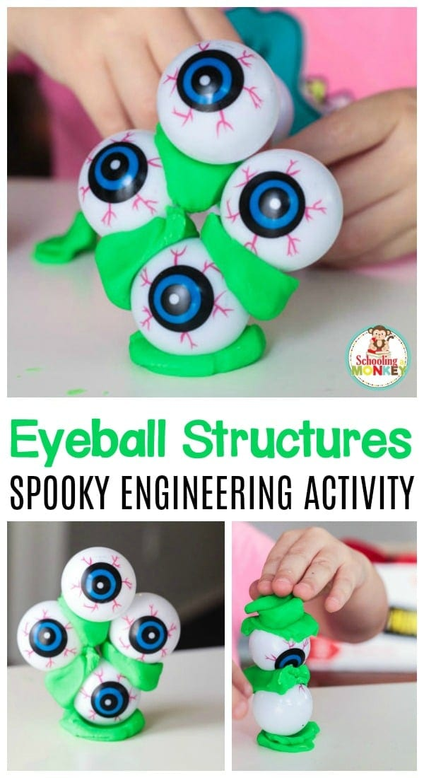 Science is tons of fun during Halloween, especially if you can make it gross! This eyeball structure STEM challenge is the perfect spooky science activity!