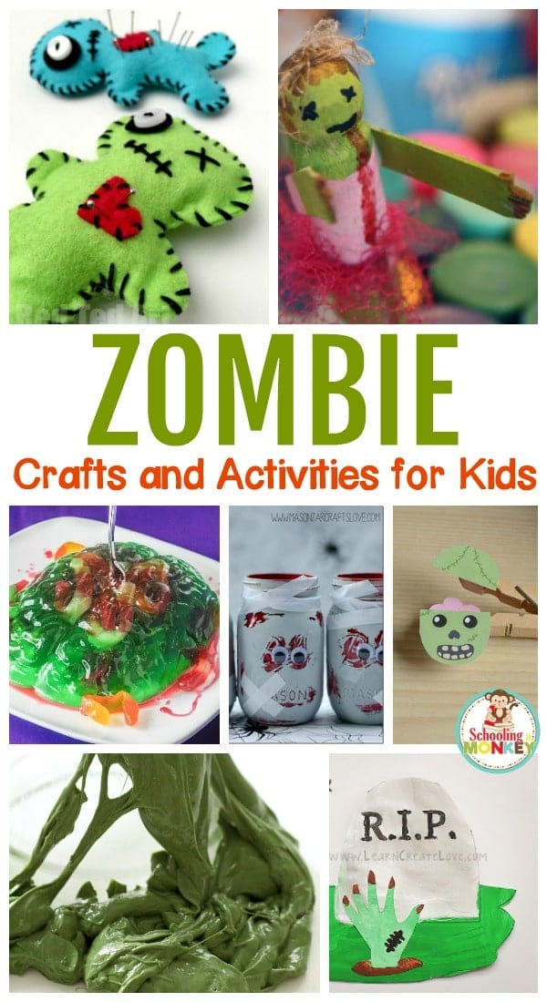 Kids love to hate zombies, and this Halloween, they can bring zombies to life with these fun zombie crafts and zombie activities for kids!