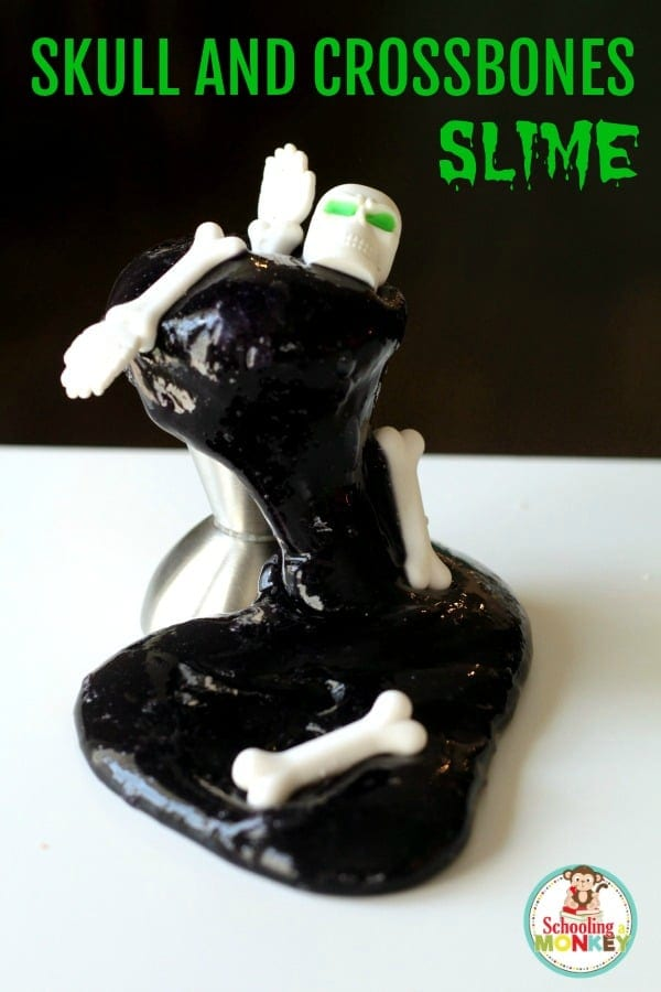 Mix science and Halloween when you make skull slime and turn it into a Halloween STEM activity! Kids of all ages will love this creepy science experiment.