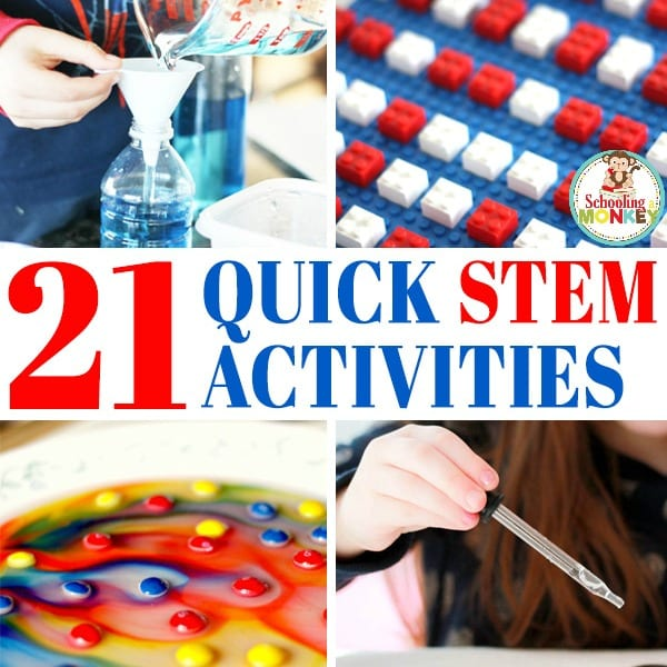 Easy STEM activities for kids are tons of fun. But you don't need tons of time to make quick STEM happen. These quick STEM activities take 10 minutes or less for the quick STEM challenges!