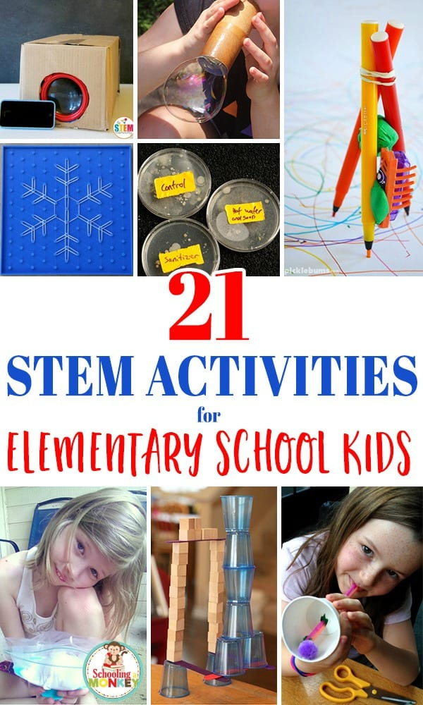 Teaching elementary science? This collection offers the best STEM activities for elementary school aged kids that are hands on, educational, and fun! Elementary STEM activities are a fun way to teach science, technology, engineering, and math! Use these STEM ideas for elementary in the classroom! #stem #stemed #handsonlearning #scienceexperiments