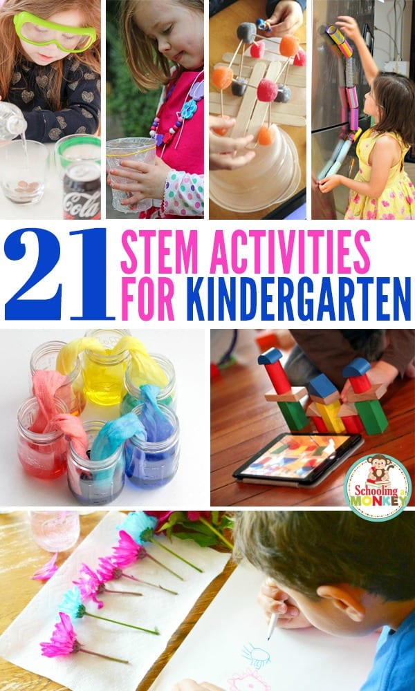 STEM (science, technology, engineering, and math) are important skills for all kids. These STEM activities for kindergarten are perfect for early learners!