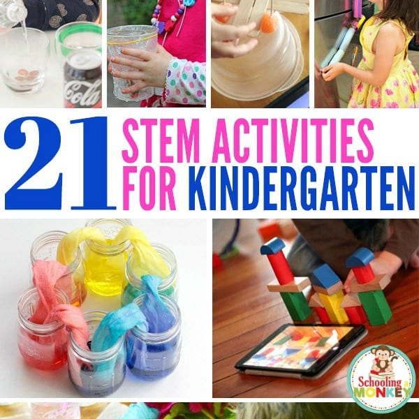 THE ULTIMATE LIST OF STEM ACTIVITIES FOR KINDERGARTEN