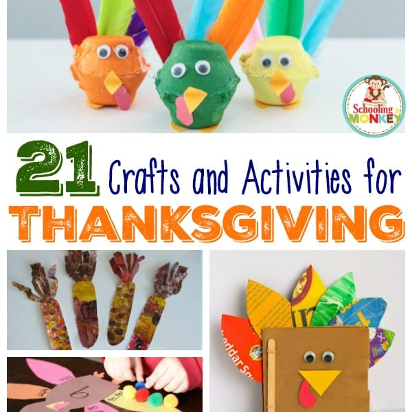 21 of the Best Thanksgiving Crafts and Activities for Kids