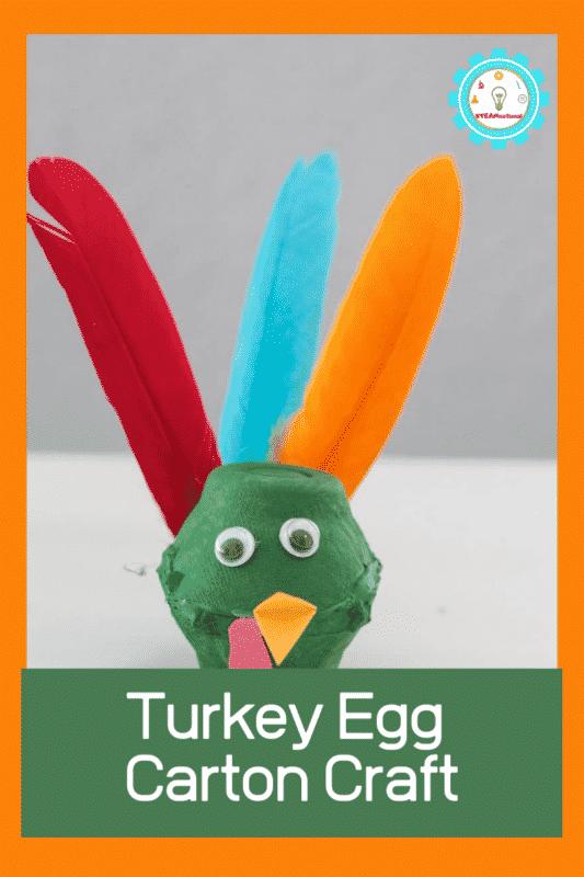 turkey egg carton craft
