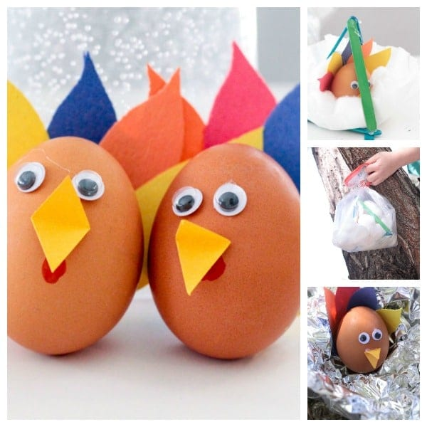 Turkey Egg Drop Project with Popsicle Sticks