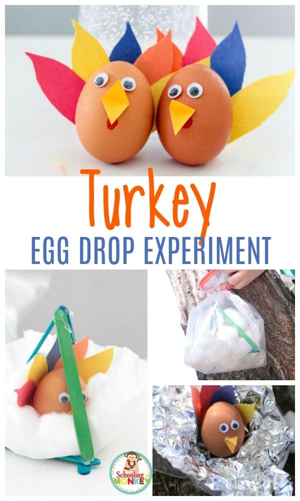 Thanksgiving is a blast with a turkey egg drop experiment. The perfect Thanksgiving STEM activity! Thanksgiving activities for kids have never been so fun!