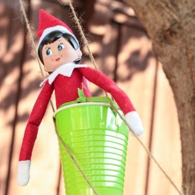 Simple Elf on the Shelf Zip Line Engineering Challenge