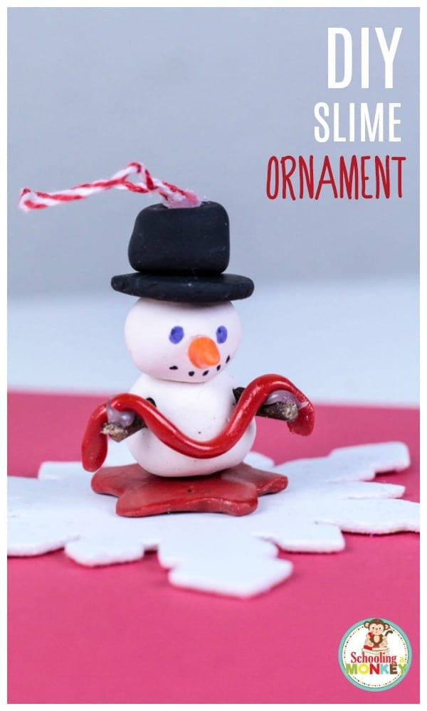 Slime lover? Make this super fun DIY slime ornament to show the world how much you love slime! This kid-made ornament is fun for all ages!
