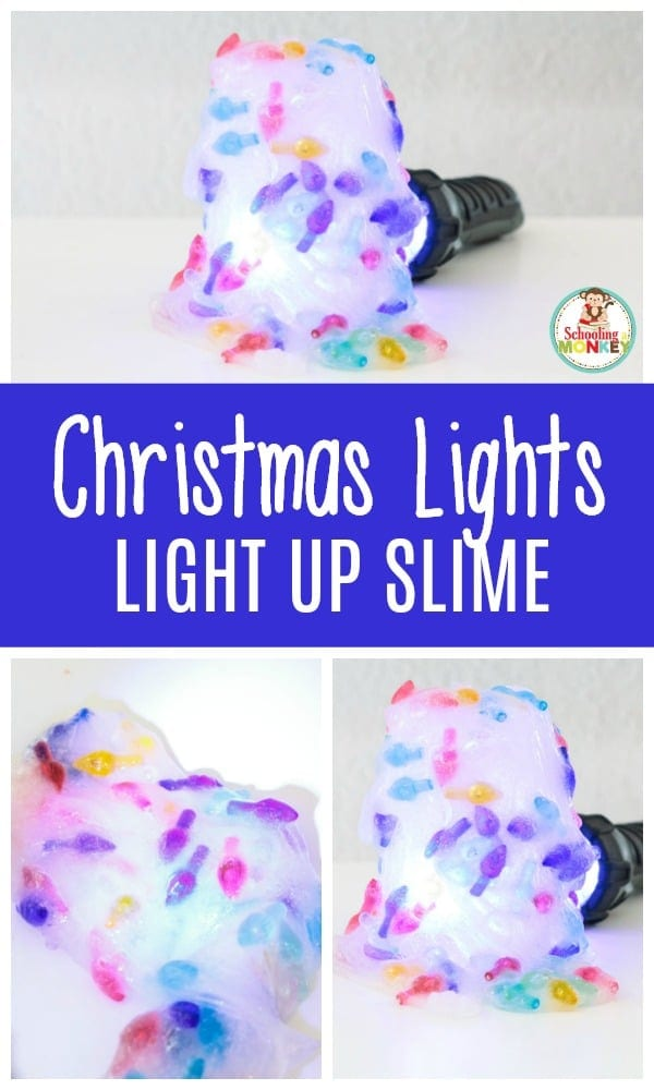 Christmas is way more fun when it glows! Make this fun Christmas lights slime that has a STEAM element when you make the slime glow!