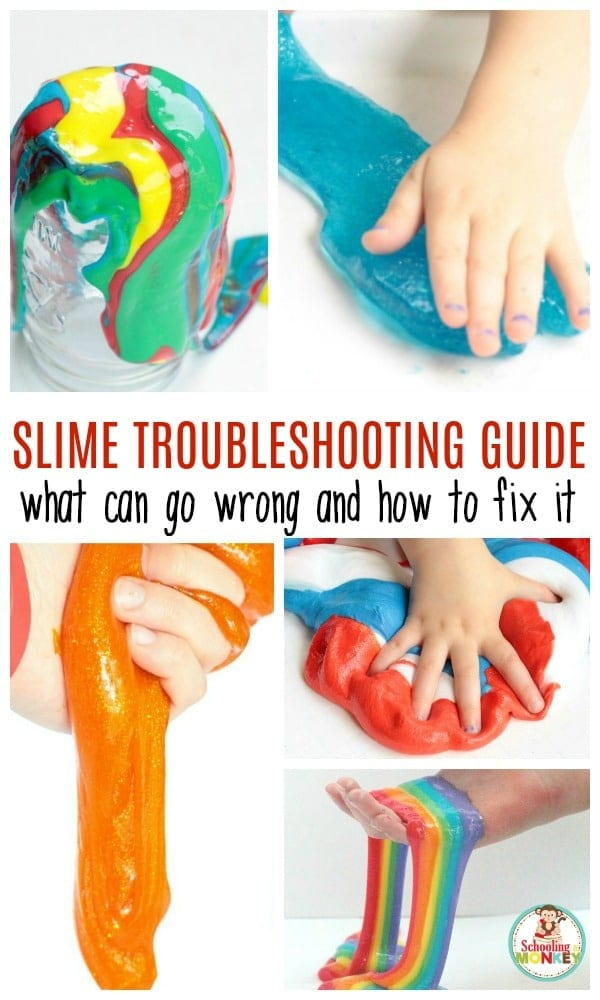 Does your slime always flop? Use this slime troubleshooting guide to help you make the perfect slime recipe every time and become a slime expert!