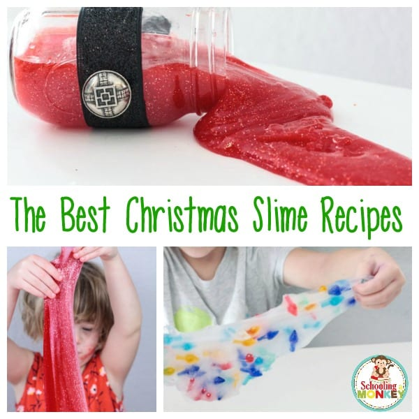 Mix a love of Christmas with a love of slime with these hands-on Christmas slime recipes! These are the very best recipes for Christmas slime ever!