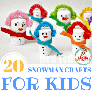 20 of the Best Snowman Crafts For Kids