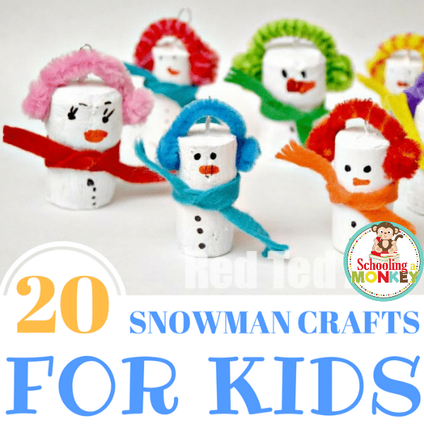 20of the Best Snowman Crafts For Kids