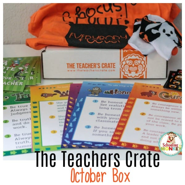 The Teacher's Crate is a subscription box for teachers! This month, we review the October box, and it's tons of fun! It makes the perfect gift for teachers!