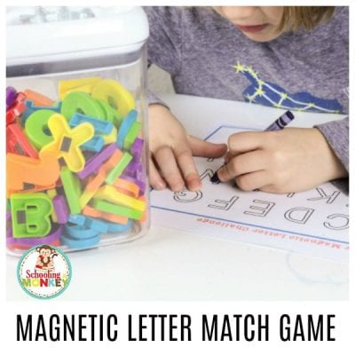 Seek and Find Magnetic Letter Matching Game