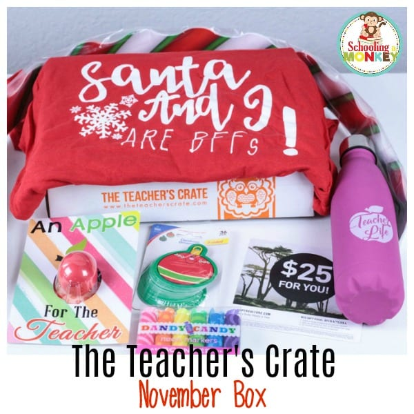 The Teacher's Crate is a subscription box for teachers! This month, we review the November box, and it's so of fun! It makes the perfect gift for teachers!