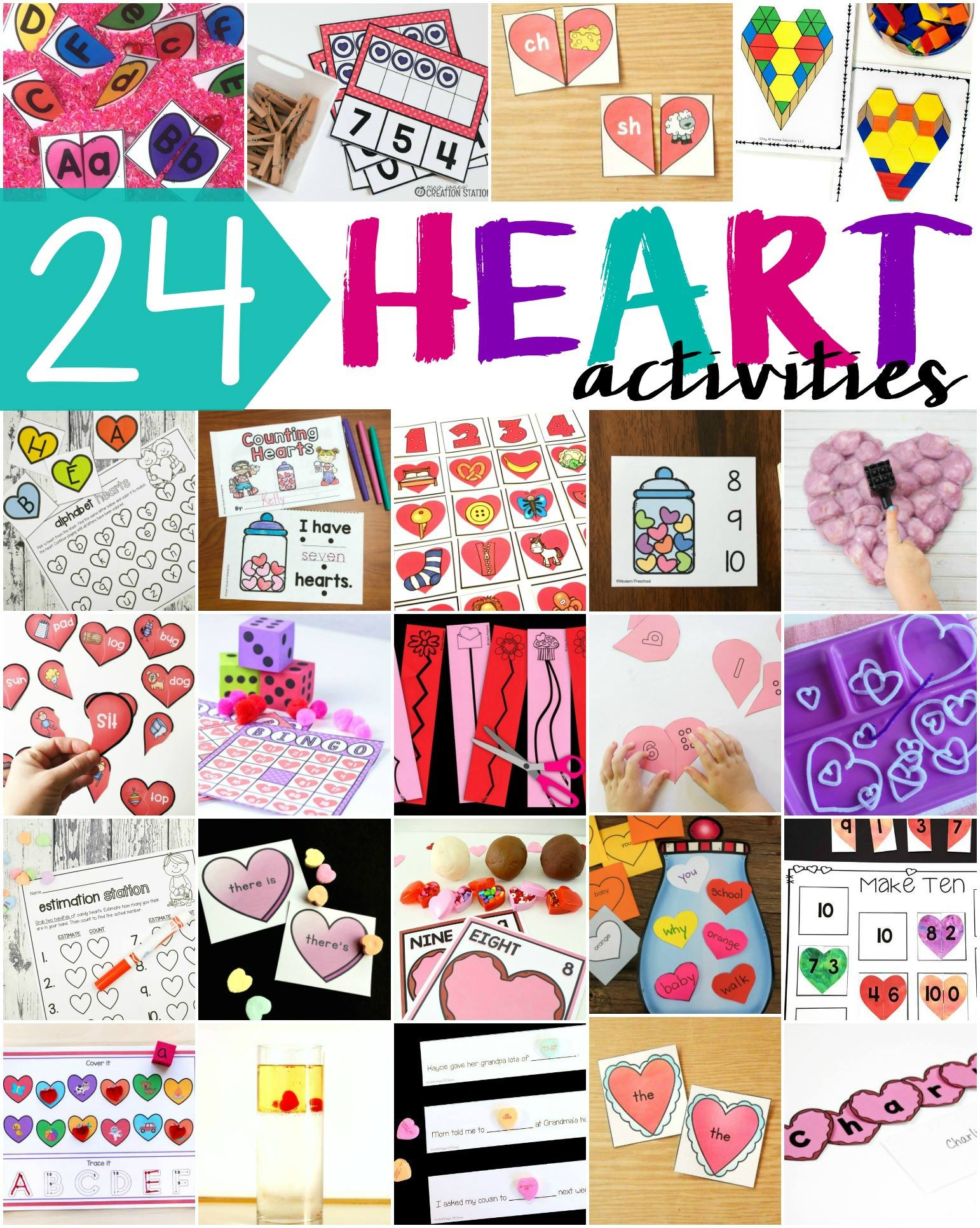 Heart activities for Valentine's Day #valentinesday #heartactivities