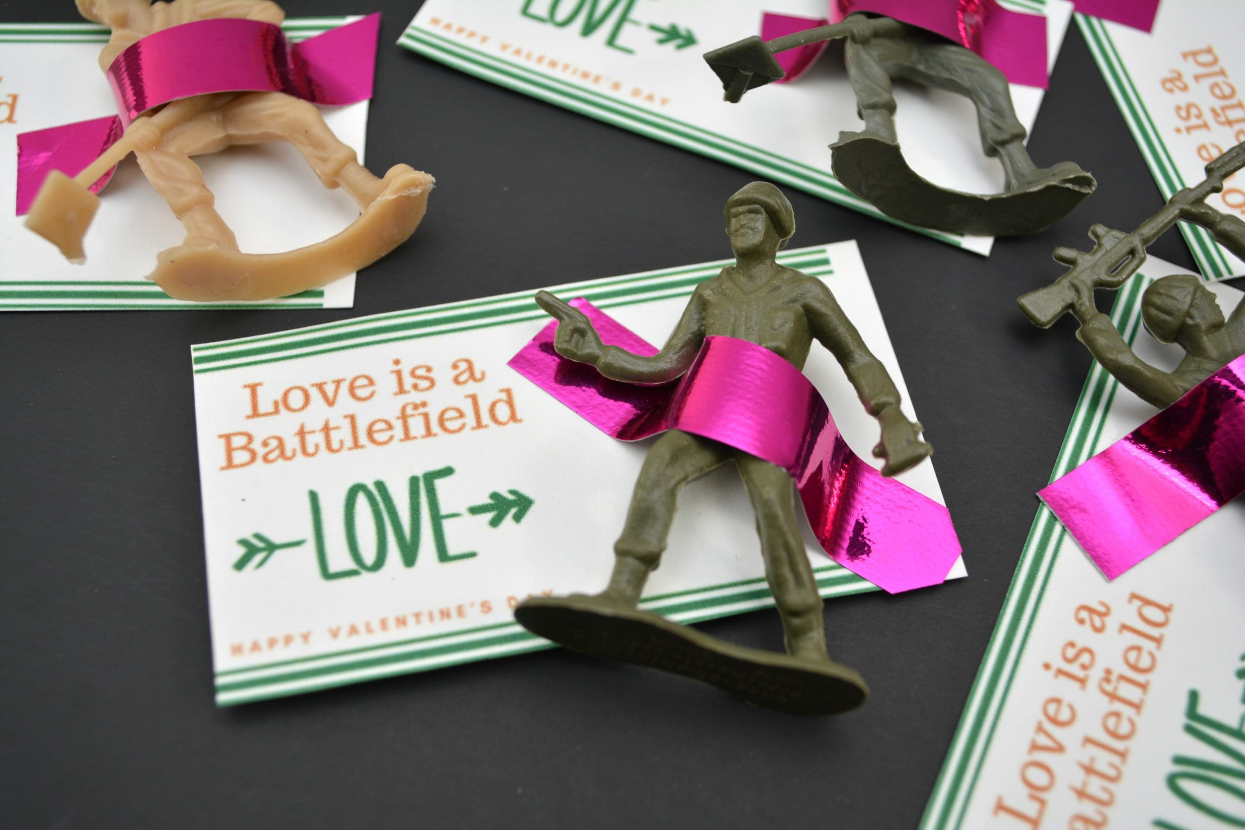 If you need a creative and boy-friendly valentine, these army men printable valentines are the perfect non-candy valentines for your son's classroom!