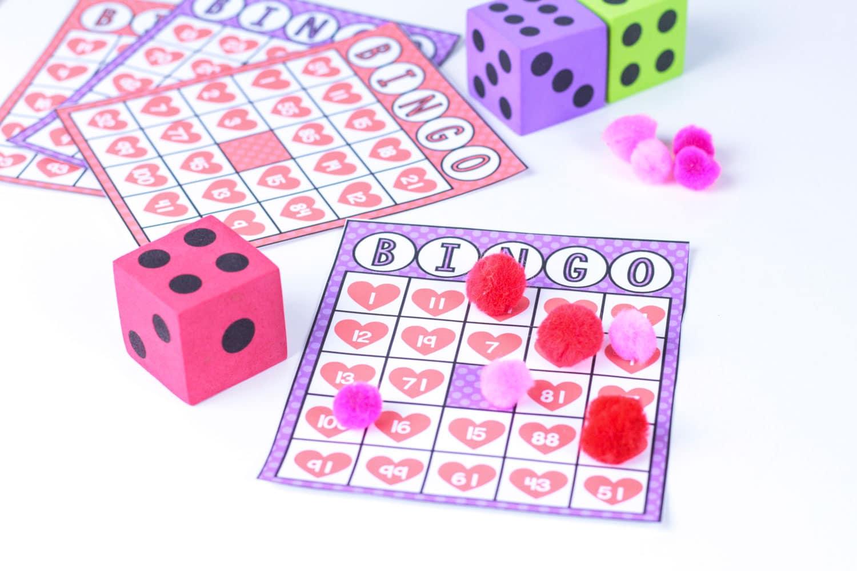 heart bingo cards