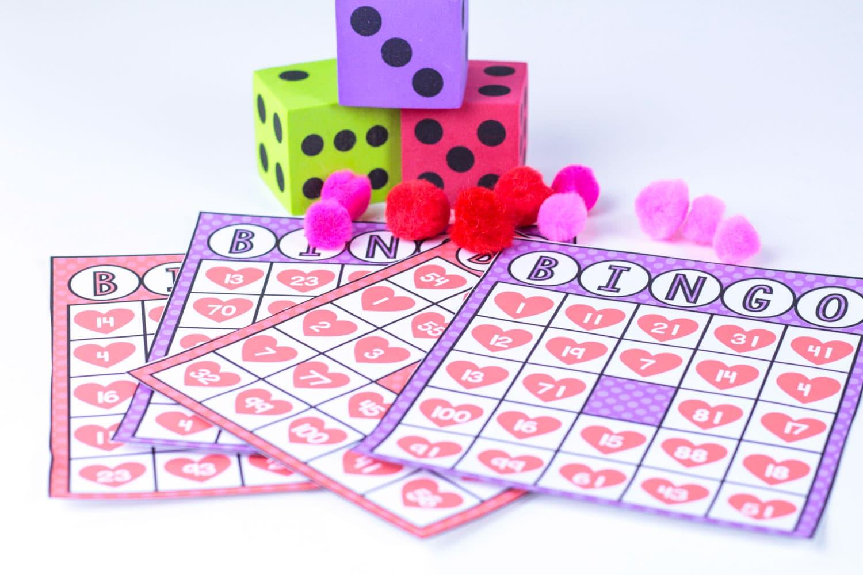 math bingo cards