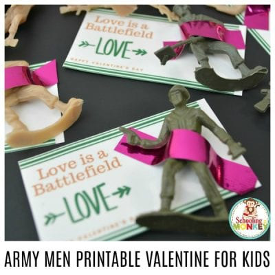 ARMY MEN PRINTABLE VALENTINES FOR KIDS