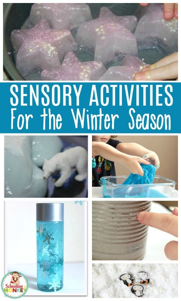 Keep warm in the winter with these hands on winter sensory activities for kids! Preschoolers and kindergarten kids will love these educational winter activities.  #winteractivities #earlylearning #handsonlearning #sensory