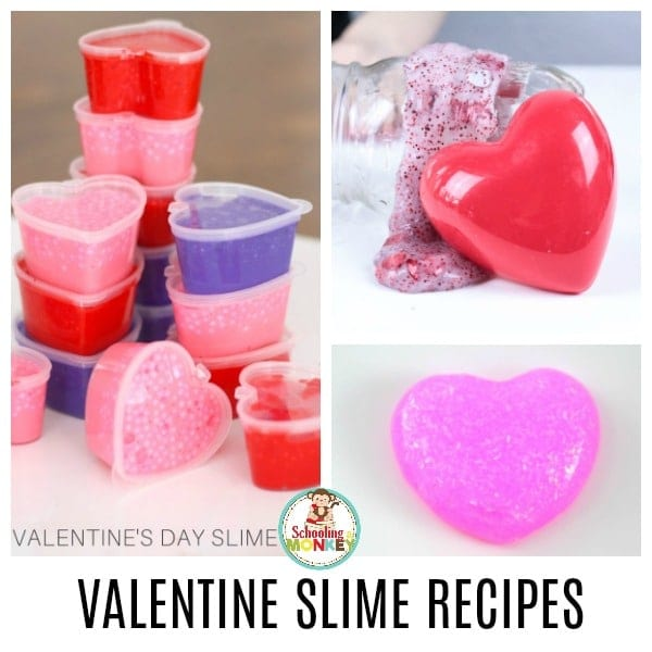 Love kids Valentines activities? You'll love this collection of the best Valentine's Day slime recipes in the world! Kids will have a blast with these Valentine sensory activities. #valentinesday #kidsactivitties #slime #stemed